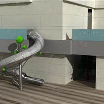 定做非标不锈钢滑梯 非标造型设备 消防螺旋不锈钢滑梯