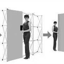 展会展览设备 拉网式展架 布拉网展示架 X展架 L型