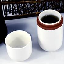 琺瑯彩茶杯旅行泡茶快客杯精致花紋茶杯