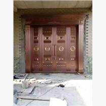 天津安裝高檔仿銅門 高級別墅銅門 歐式仿銅門