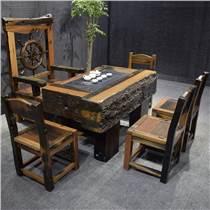 老船木家具電磁爐茶臺,船木翹頭茶臺船木龍骨茶桌