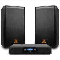 獅樂KTV音響企業會議活動唱歌后級功放大功率帶調音臺