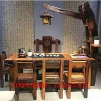 老船木家具茶桌椅子現代簡約茶幾實木功夫茶臺客廳陽臺泡
