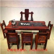 老船木别墅餐桌老船木圆形餐桌