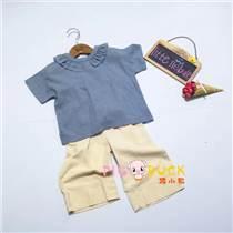 廣州童裝批發市場19年夏裝新款熙熙布衣品牌童裝折扣批發