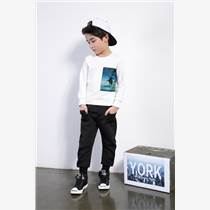 品牌折扣童裝19春季 童戈男童運動韓版套裝走份尾貨