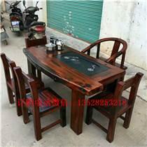 鑫阳老船木棋盘茶台椅组合船木茶几茶桌办公桌船木沙发