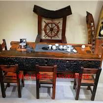 老船木電視柜古船木復古實木客廳展示柜組合家具定做批發