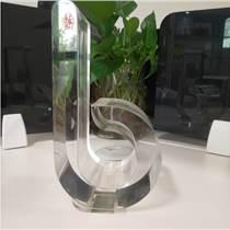深圳廠家定制異形透明亞克力獎杯透明有機玻璃造型紀念獎