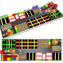 童玩咖品牌大型游乐设备儿童蹦床自由蹦床网红粘粘乐厂家