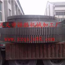 鹿泉回轉窯大齒輪輪帶回轉窯托輪擋輪加工