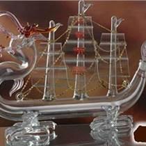 玻璃工藝酒瓶生產廠家 異形帆船酒瓶