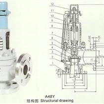 高壓彈簧全啟式安全閥A48Y-永一安全閥廣東廣州總代