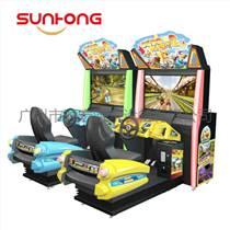 游戲迪多世界動感模擬賽車,動物明星形象十分吸引
