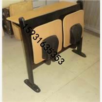河北胜芳阶梯教室排椅,后背铁网连体课桌椅