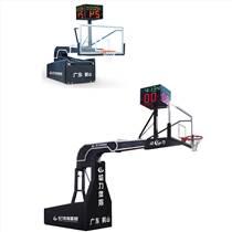 广东户外智能微电脑液压篮球架 夹胶透明篮球板厂家