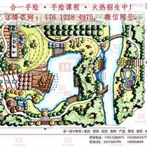 天津园林景观设计手绘培训班 园林景观考研快题手绘培训