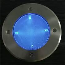 4LED防眩光導光板整面發光太陽能地埋草坪燈