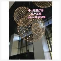 成熟商業運營中庭 不銹鋼發光球螢火蟲LED球形燈 銘