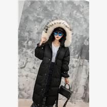 廣州品牌折扣女裝唯美大氣簡約時尚羽絨服貨源