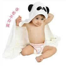 婴幼儿竹纤维抱被连帽绣花浴巾斗篷新生儿抱毯宝宝包被