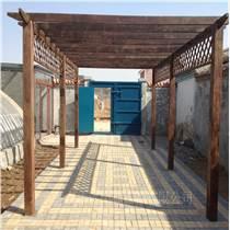 石景山庭院绿化设计制作防腐木花架厂家施工