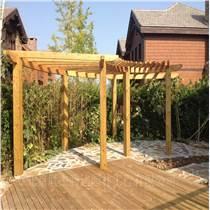 門頭溝家庭花園設計制作戶外防腐木地板施工