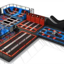 室內淘氣堡大型蹦床魔鬼滑梯玩具設備定制