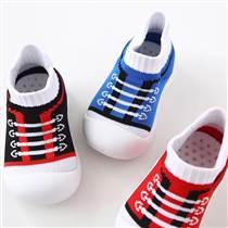 廠家直銷防滑軟底透氣減震耐磨精梳棉襪子鞋