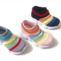廠家直銷防滑軟底透氣減震耐磨精梳棉針織鞋
