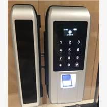玻璃門智能鎖 不聯網指紋門禁 免打孔門鎖一體機 辦公