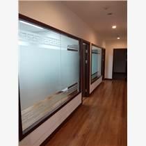 北京辦公室裝飾貼膜玻璃隔斷磨砂玻璃貼
