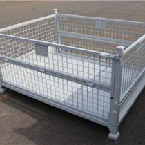 钢丝仓储笼周转框储物箱镀锌铁丝蝴蝶笼折叠式金属网笼车