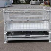 供应仓储笼可折叠式蝴蝶笼铁丝笼 物流金属周转筐可定制