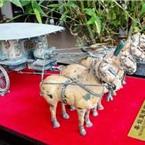 陜西仿古銅車馬 純銅馬車工藝品 原大三米銅車馬擺飾品