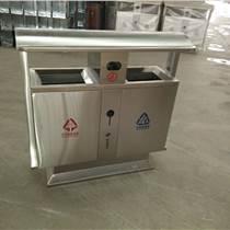 河南鄭州生產廠家、不銹鋼雙分類垃圾箱、環衛設施垃圾桶