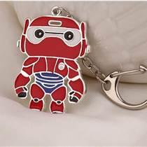 廣州制作招財貓鑰匙扣掛件鋅合金古銅色立體匙扣