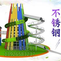 深圳騎牛人無動造型不銹鋼滑梯非標定制工廠