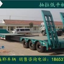 新疆大型罐體運輸半掛車圓形罐體超低運輸車抽拉運輸車