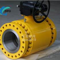 自貢自泵球閥廠Q347F 軟密封鍛鋼分體式三片式閥體