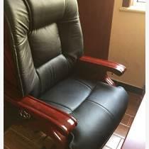 雅駝真皮老板椅實木可躺電腦椅家用升降大班椅座椅書房轉