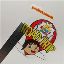 特殊材料定制pvc透明龍不干膠貼紙兒童玩具不干膠貼紙