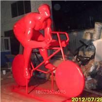 运动人物汽车雕塑摆件 玻璃钢户外园林雕像景观艺术品