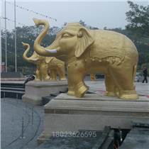 大象玻钢雕塑 玻璃钢大象雕塑 佛山大壮国际广场喷泉大