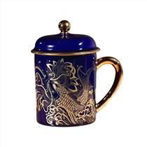 陶瓷顏色釉茶杯廠家 紀念陶瓷茶杯定制 供應景德鎮陶瓷
