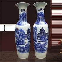 仿古青花瓷花瓶插花客厅中式装饰家居电视柜摆件