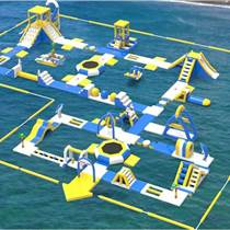 大型移動兒童廠家支架水池游泳池水上闖關組合
