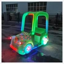 新款廣場商場兒童發光加蓬老爺車碰碰車游樂車
