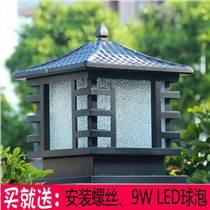 廠家直銷太陽能柱頭燈室外庭院燈戶外防水圍墻燈別墅門柱
