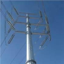 輸電電力鋼桿35kv電力鋼桿 鋼管桿基礎施工 加工高